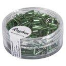 Glasstifte, 7/2 mm, mit Silbereinzug, grün, Dose 15g