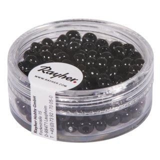 Indianer-Perlen, 4,5 mm ø, schwarz, Dose 17g