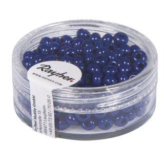 Indianer-Perlen, 4,5 mm ø, dunkelblau, Dose 17g