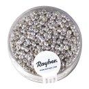Rocailles, 2,6 mm ø, perlmutt, silber, nicht...