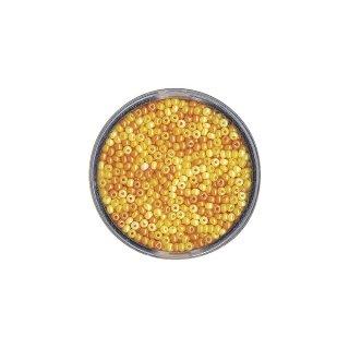 Rocailles, perlmutt, Dose 17g, Gelb-Töne, 2,6 mm ø