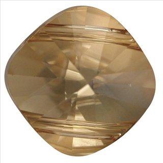 Swarovski-Kristall-Schliffp.Squuare Bead, golden shadow, 14x14 mm, Dose 1 Stück