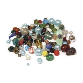 Glasperlen, bunt gemischt, SB-Btl. 75 g