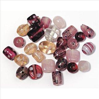 Schmuck-Glasperlen, rosé, 6-18 mm, 40 g, Beutel