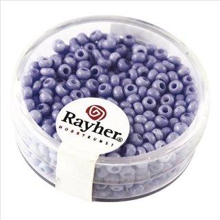 Rocailles, 2,6 mm ø, porzellan, mittelblau, Dose 17 g