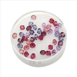 Swarovski Kristall-Schliffperlen, Lila-Töne, 6 mm, Dose 25 Stück