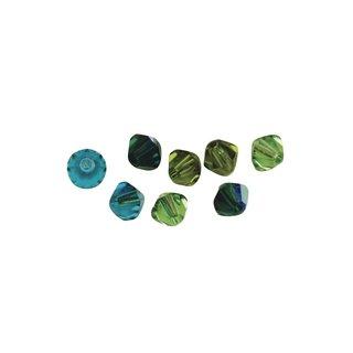 Swarovski Kristall-Schliffperlen, Grün-Töne, 6 mm, Dose 25 Stück