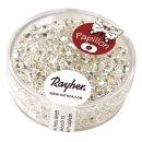 Papillon-Rocailles, 2x4 mm, bergkristall, Dose 18g