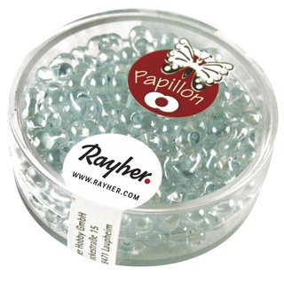 Papillon-Rocailles, 3,2x6,5 mm, mintgrün, Dose 18g