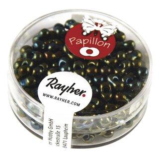 Papillon-Rocailles, 3,2x6,5 mm, smaragd, Dose 18g