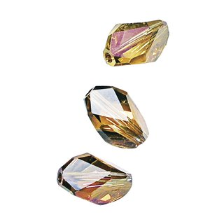 Swarovski Kristall-Cubist-Perle, kupfergold, 12x8 mm, Dose 3 Stück