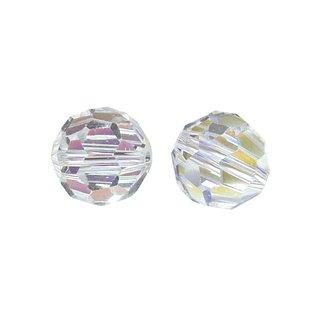 Glasschliff-Rundperlen, 8 mm ø, bergkristall, Dose 8 Stück