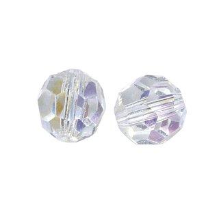 Glasschliff-Rundperlen, 10 mm ø, bergkristall, Dose 5 Stück
