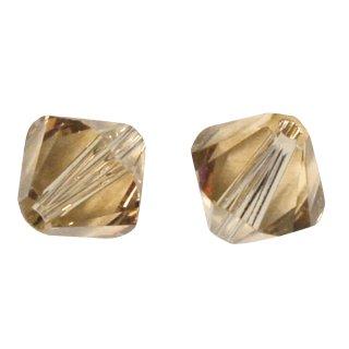 Swarovski Kristall-Schliffperlen, topas, 4 mm ø, Dose 50 Stück