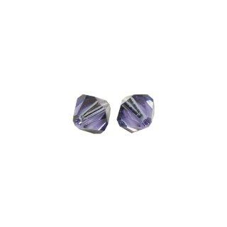 Swarovski Kristall-Schliffperlen, blauviolett, 6 mm ø, Dose 25 Stück