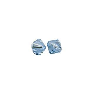 Swarovski Kristall-Schliffperlen, azurblau, 6 mm ø, Dose 25 Stück