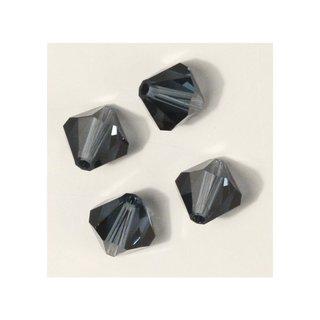 Swarovski Kristall-Schliffperlen, indigo, 8 mm ø, Dose 11 Stück