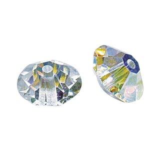 Swarovski Kristall-Scheibe, mondstein, 6 mm ø, Dose 25 Stück