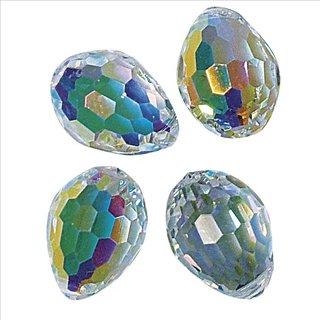 Swarovski Kristall-Perltropfen, mondstein, 10x7 mm, Dose 2 Stück