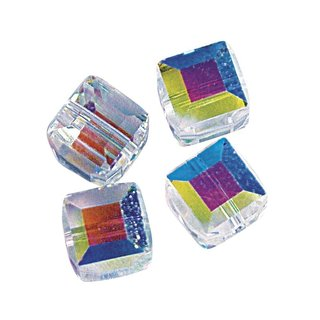 Swarovski Kristall-Würfel, mondstein, 6 mm, Dose 4 Stück