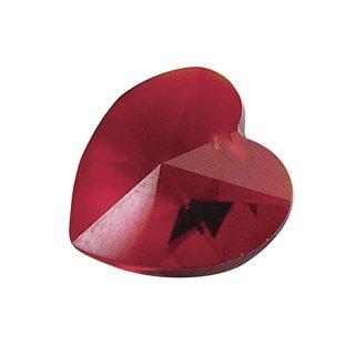 Swarovski Kristall-Herz, granat, 18x17,5 mm, Dose 2 Stück