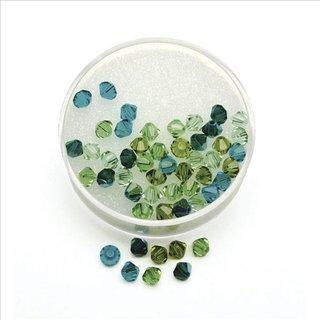 Swarovski Kristall-Schliffperlen, Grün-Töne, 4 mm ø, Dose 50 Stück