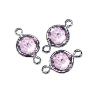 Swarovski Schmuck-Accessoires, violett, rund, 2 Ösen, 11 mm, Dose 9 Stück