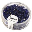 Rocailles, 4 mm ø, mit Silbereinzug, d.blau, Dose 17 g