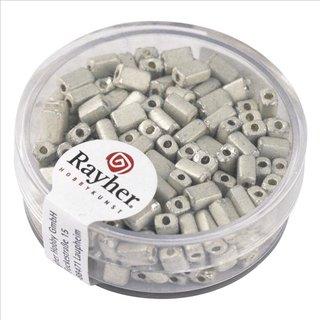 Metallic-Rechteck, matt, weiß, 5x3,5 mm, Dose 17g