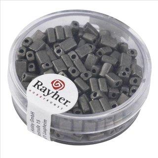 Metallic-Rechteck, matt, anthrazit, 5x3,5 mm, Dose 17g