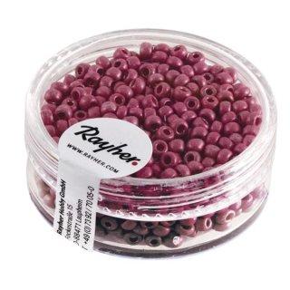 Metallic-Rocailles, matt, rosé, 2,6 mm ø, Dose 17g