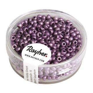 Metallic-Rocailles, matt, violett, 2,6 mm ø, Dose 17g