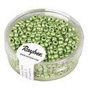 Metallic-Rocailles, matt, lindgrün, 2,6 mm ø,...