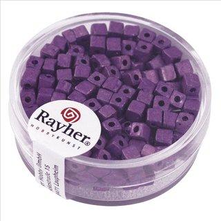 Metallic-Würfel, matt, violett, 3,4 mm, Dose 15g