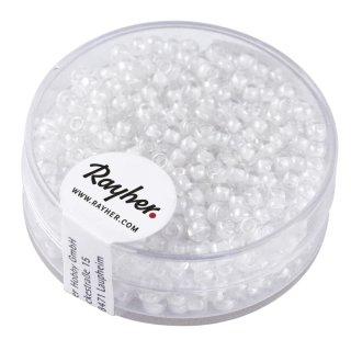 """Rocailles """"Arktis"""", gelüstert, weiß, 2,6 mm ø, Dose 17g"""