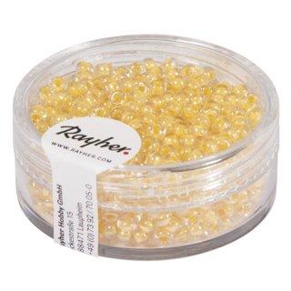 """Rocailles """"Arktis"""", gelüstert, vanille, 2,6 mm ø, Dose 17g"""