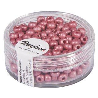 Metallic-Rocailles, matt, rosé, 4 mm, Dose 17g