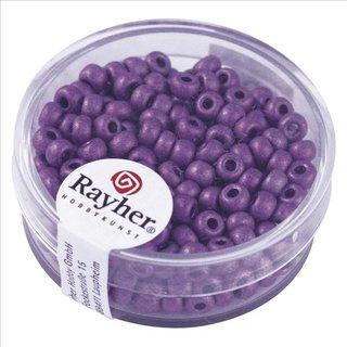 Metallic-Rocailles, matt, violett, 4 mm, Dose 17g