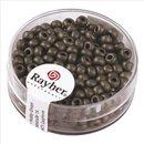Metallic-Rocailles, matt, anthrazit, 4 mm, Dose 17g