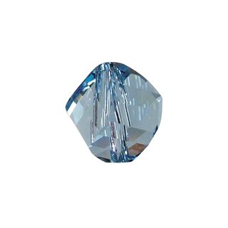 Swarovski Kristall-Helix-Perle, aquamarin, 6 mm, Dose 10 Stück