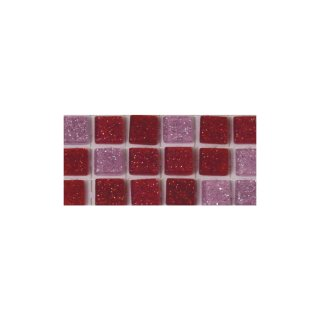 Acryl-Mosaik, Glitter, selbstklebend, rosé, ø 5 mm, rund, 3 Farben, Beutel, 144 Stück