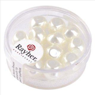 Renaissance-Perle, schneeweiß, 9 mm ø, Dose 13 Stück
