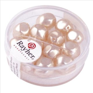 Renaissance-Perle, muschelrosa, 9 mm ø, Dose 13 Stück