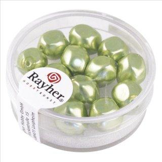 Renaissance-Perle, jade, 9 mm ø, Dose 13 Stück