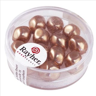 Renaissance-Perle, kaschmir, 9 mm ø, Dose 13 Stück