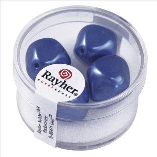 Renaissance-Perle, azurblau, 17 mm ø, Dose 4 Stück