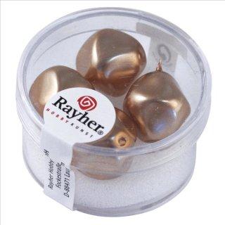Renaissance-Perle, kaschmir, 17 mm ø, Dose 4 Stück