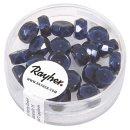 Glasperle-Radl, nachtblau, 4x8 mm, Dose 22 Stück