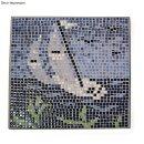 "Mosaik-Ceramica ""Mini"", 5x5x3 mm, burgund, glasiert, Dose ca. 110 Stück/10g"