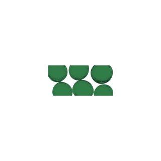Mosaiksteine rund, 1 cm ø, transparent, grün, Box ca. 130 Stück / 210g